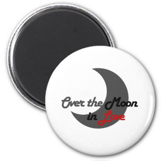 Over the Moon Refrigerator Magnets