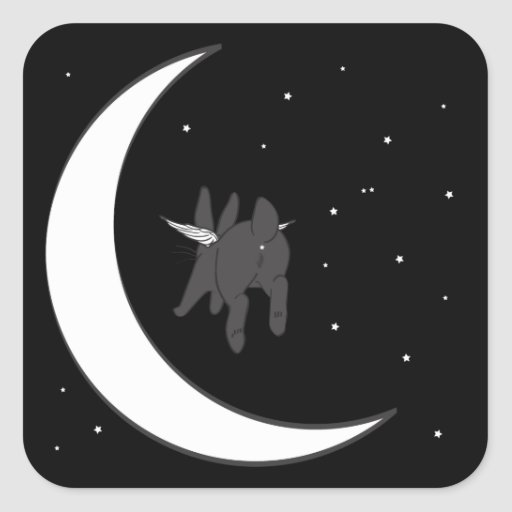 OVER THE MOON SQUARE STICKERS