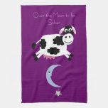 Over The Moon To Be Sober Purple Hand Towel