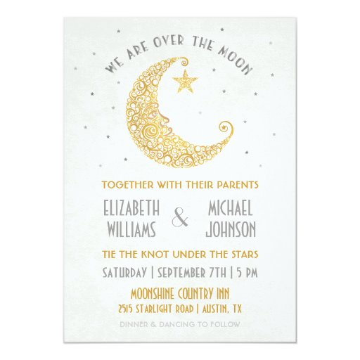Moon And Stars Wedding Invitations as best invitation layout
