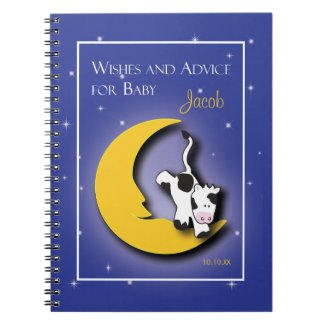 Over the Moon | Wishes & Words of Advice Notepad Spiral Note Book