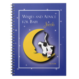 Over the Moon  |  Wishes & Words of Advice Notepad Spiral Notebook