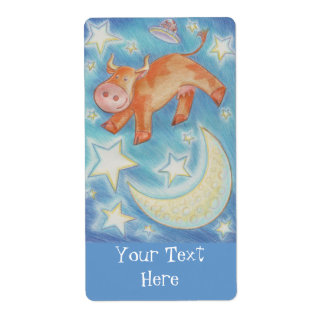 Over the Moon 'Your Text'  label