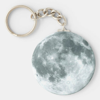 """OVER THE MOON"" Zipper-Pull & Basic Round Button Keychain"