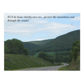 OVer the MOuntains and THrOugH the WoOdS Postcard