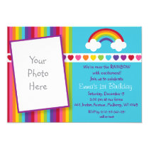 Over the Rainbow Birthday Invitations