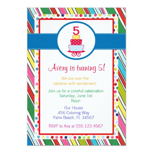 Over the Rainbow Birthday Party Invitation