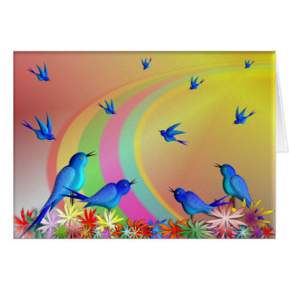 OVER THE RAINBOW greeting card. Card