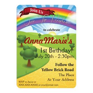 "Over The Rainbow Invitations 5"" X 7"" Invitation Card"