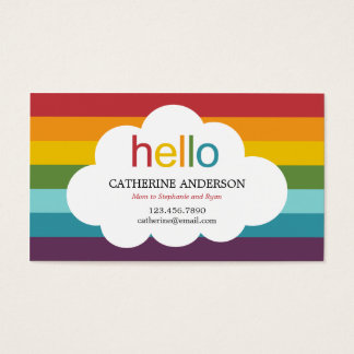 Over The Rainbow Mommy Card / Calling Card