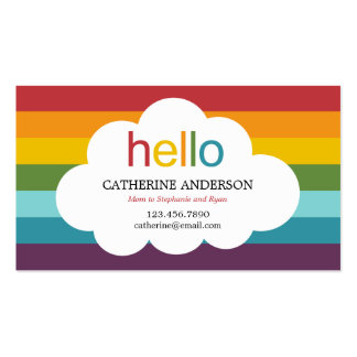 Over The Rainbow Mommy Card / Calling Card Double-Sided Standard Business Cards (Pack Of 100)