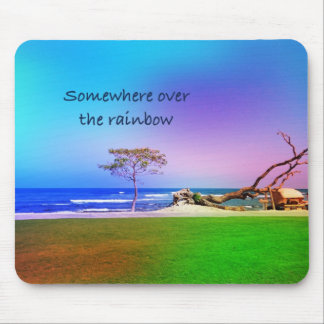over the rainbow mouse pad