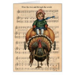 Over The River And Through The Woods - Turkey Card