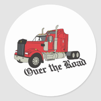 Over The Road Classic Round Sticker
