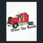 "Over The Road Letterhead<br><div class=""desc"">The classic truck will satisfy vehicle-lovers of any age!  Great design for T-shirts and sweatshirts.</div>"