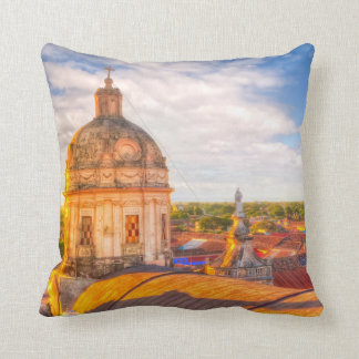 Over The Roofs of Granada - Nicaragu Throw Pillows