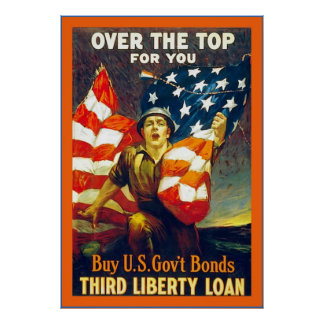 Over The Top For You ~ Vintage World War 1 Poster