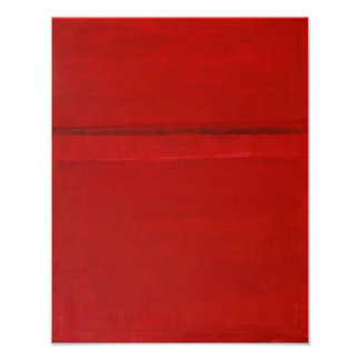 'Over the Top' Red Abstract Art Poster