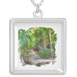 Over The Top Square Pendant Necklace