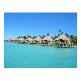 Over the Water Bungalows French Polynesia Postcard