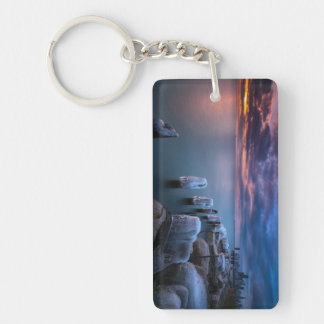 Over the weekend I decided to get out of bed Double-Sided Rectangular Acrylic Keychain