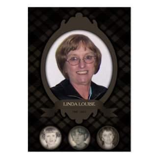 over the years photo memorial announcements large business cards (Pack of 100)
