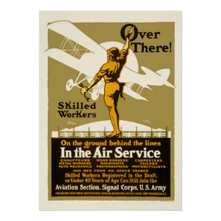 Over there!  In the Air Service Poster