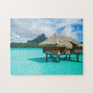 Over-water bungalow, Bora Bora jigsaw puzzle