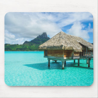 Over-water bungalow, Bora Bora mousepad