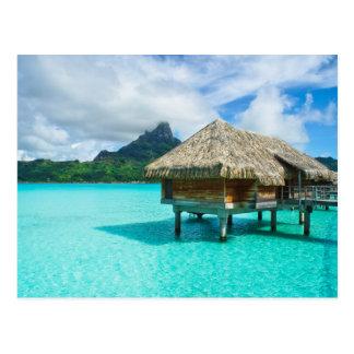 Over-water bungalow, Bora Bora postcard