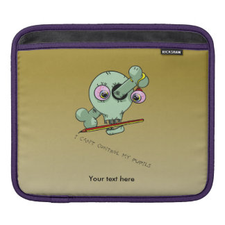 Over Worked Teacher Skull Customizable iPad Sleeve
