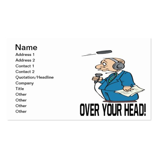Over Your Head Business Card Template