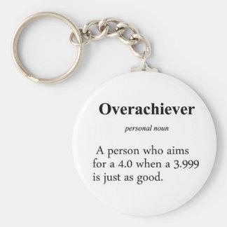 Overachiever Definition Keychain