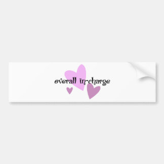 Overall In-Charge Bumper Sticker