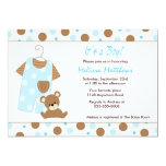 baby boy shower, overalls, baby clothes, teddy
