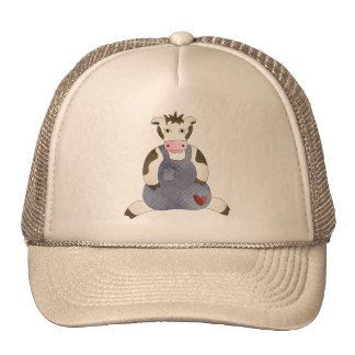 Overalls Dressed Cow Trucker Hat