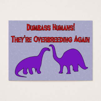 Overbreeding Dinosaurs Business Card