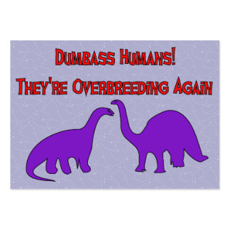 Overbreeding Dinosaurs Large Business Card
