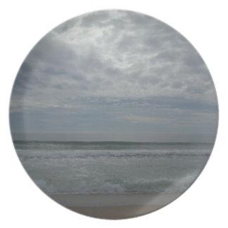 Overcast Beach Sky Dinner Plate
