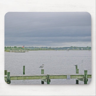 Overcast Day on Swansboro Harbor Mouse Pad