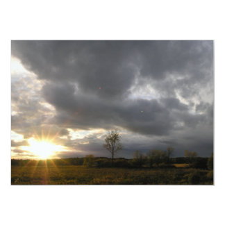 Overcast Sunset Card