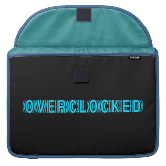 Overclocked blue sleeves for MacBook pro