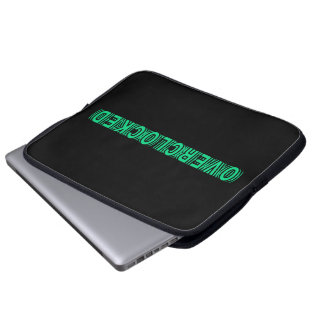 Overclocked green computer sleeves