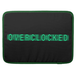 Overclocked green sleeves for MacBook pro