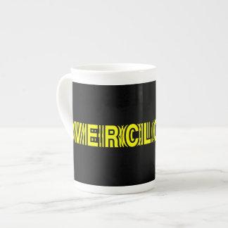 Overclocked yellow bone china mugs