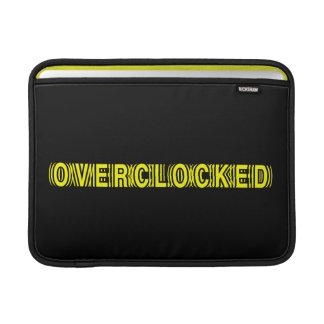 Overclocked yellow MacBook sleeves