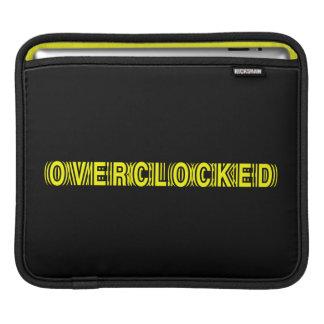 Overclocked yellow iPad sleeves