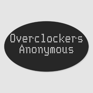 Overclockers Anonymous Oval Sticker