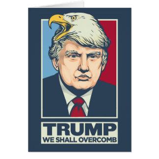 Overcomb Donald Trump Tarjeta De Felicitación