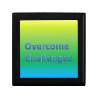 overcome challenges keepsake box